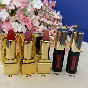 One Bundle of Mini YSL Lipsticks and Lip Stains